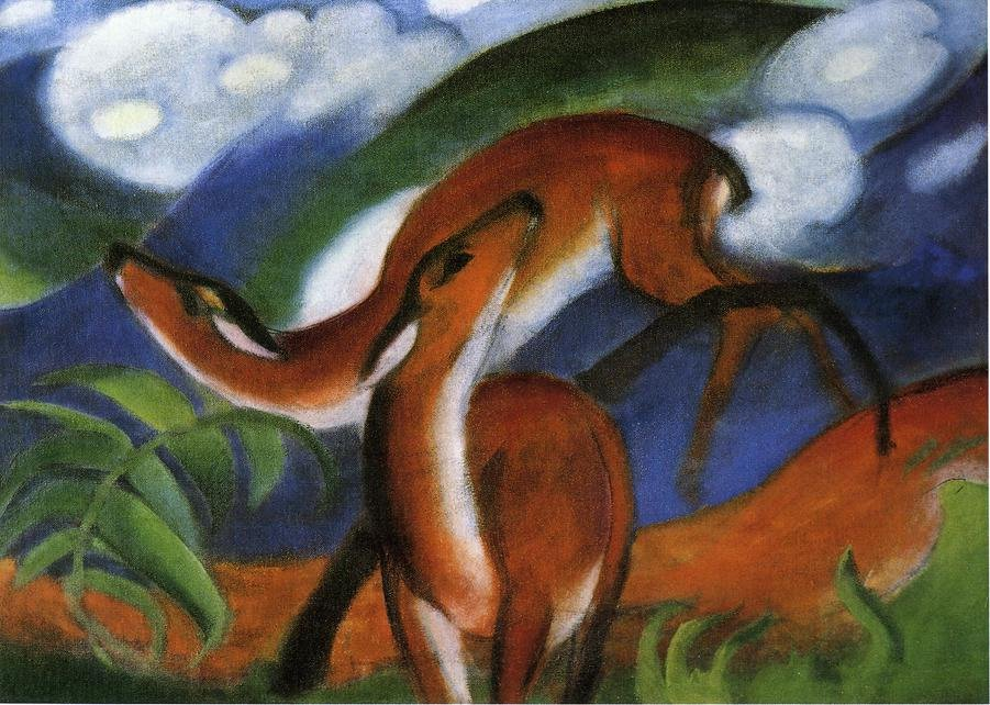 Red Deer II 1912 | Franz Marc | oil painting