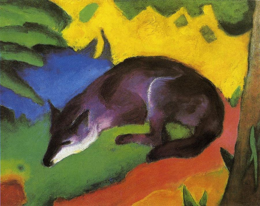 Blue Black Fox 1911 | Franz Marc | oil painting