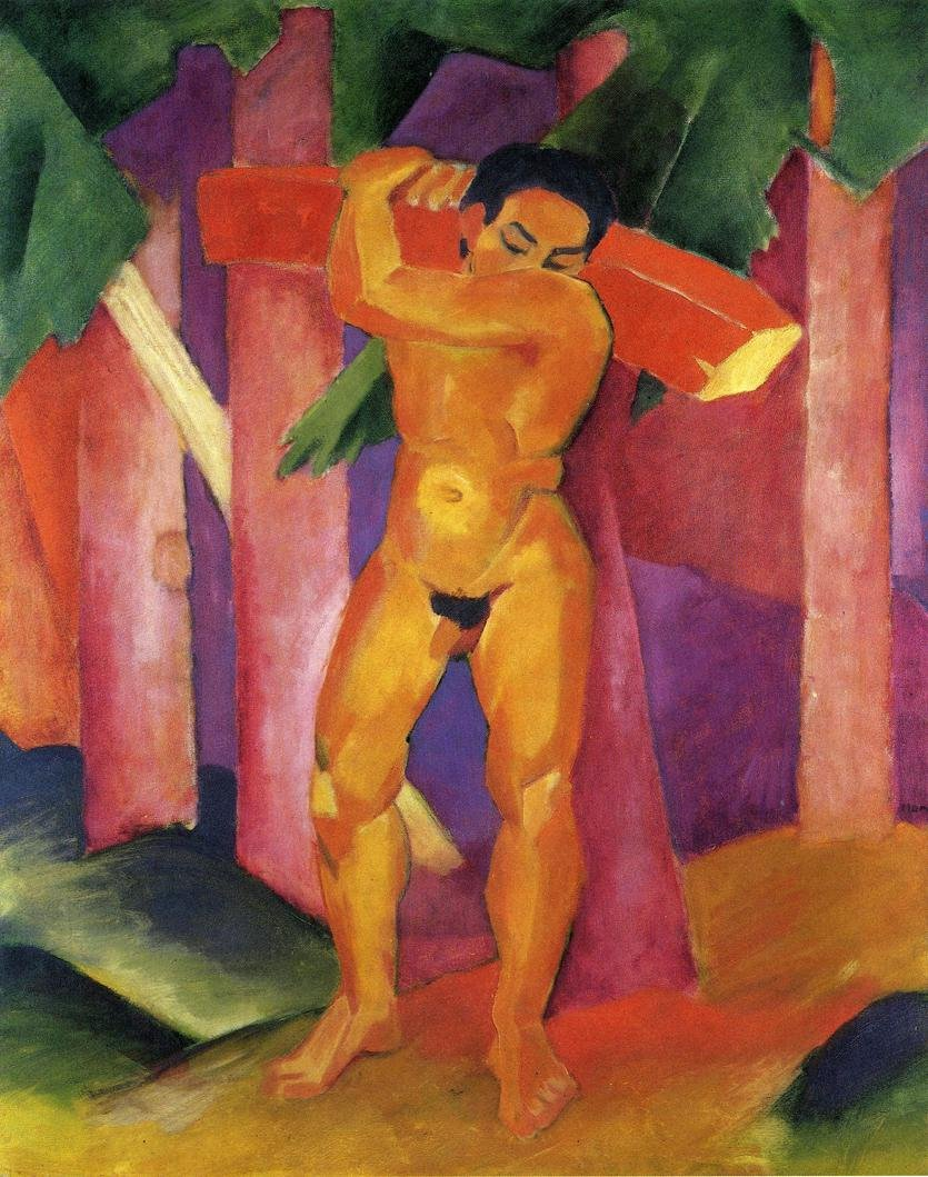 Woodcutter 1911 | Franz Marc | oil painting