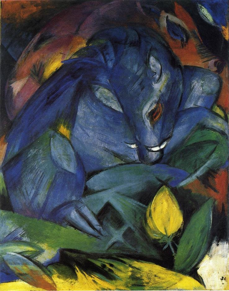 Wild Pigs boar and Sow 1913 | Franz Marc | oil painting