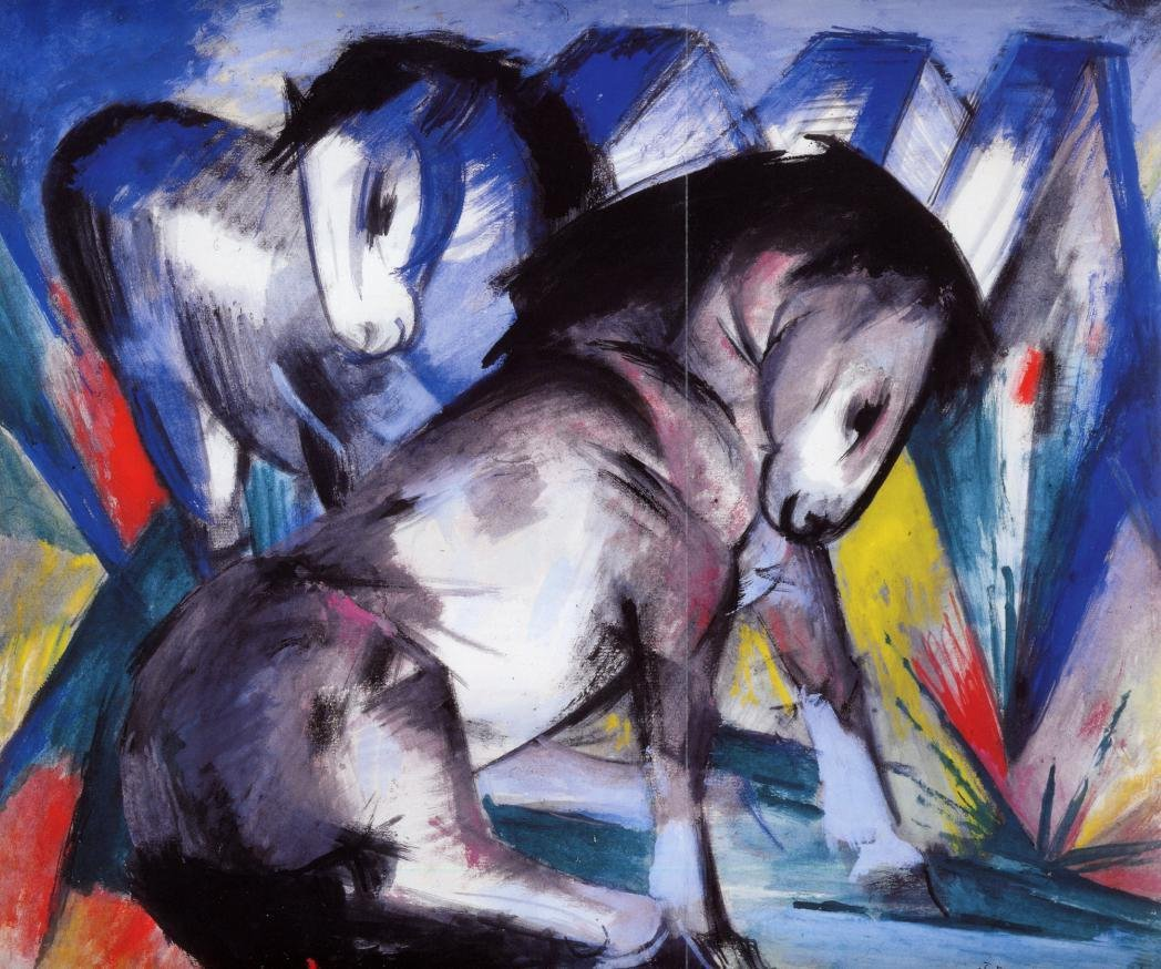 Two Horses 1913 | Franz Marc | oil painting