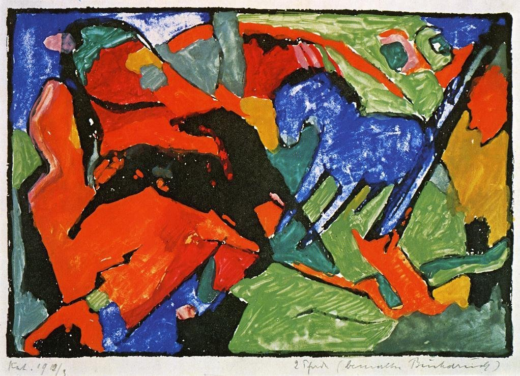 Two Horses 1911 1912 | Franz Marc | oil painting