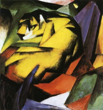 Tiger 1912 | Franz Marc | oil painting