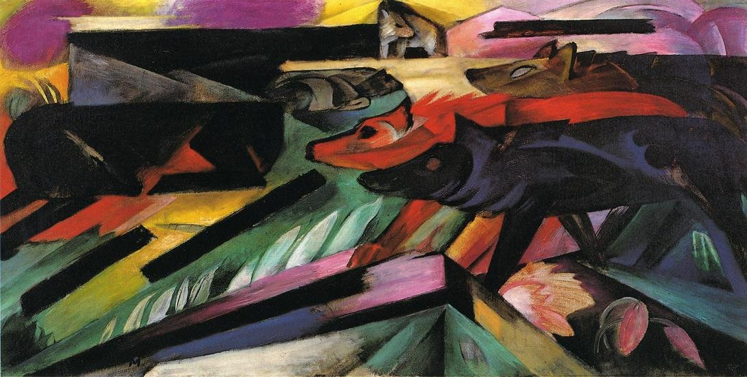 The Wolves aka Balkan War 1913 | Franz Marc | oil painting