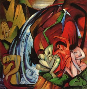 The Waterfall 1912 | Franz Marc | oil painting