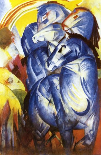 The Tower of Blue Horses 1913 | Franz Marc | oil painting