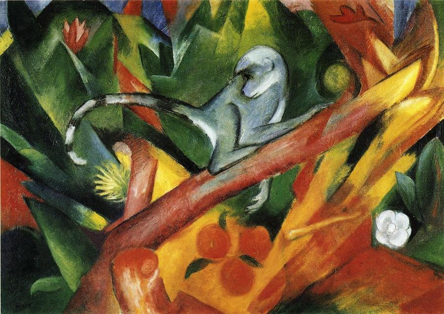 The Monkey 1912 | Franz Marc | oil painting