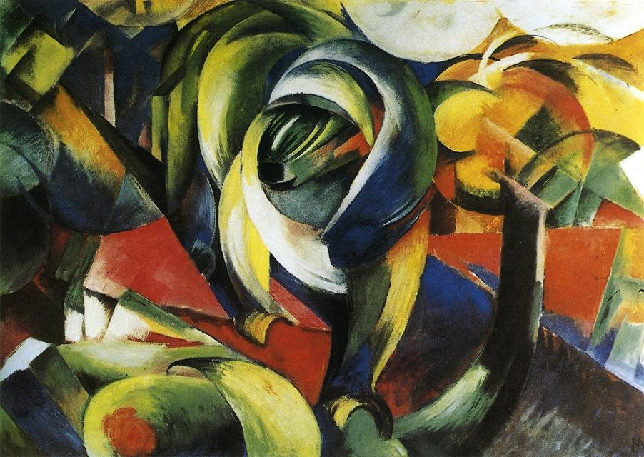The Mandrill 1913 | Franz Marc | oil painting