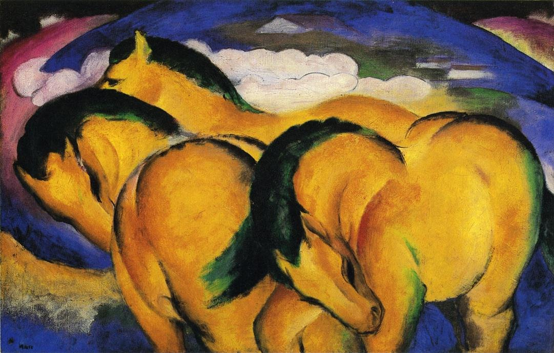 The Little Yellow Horses 1912 | Franz Marc | oil painting