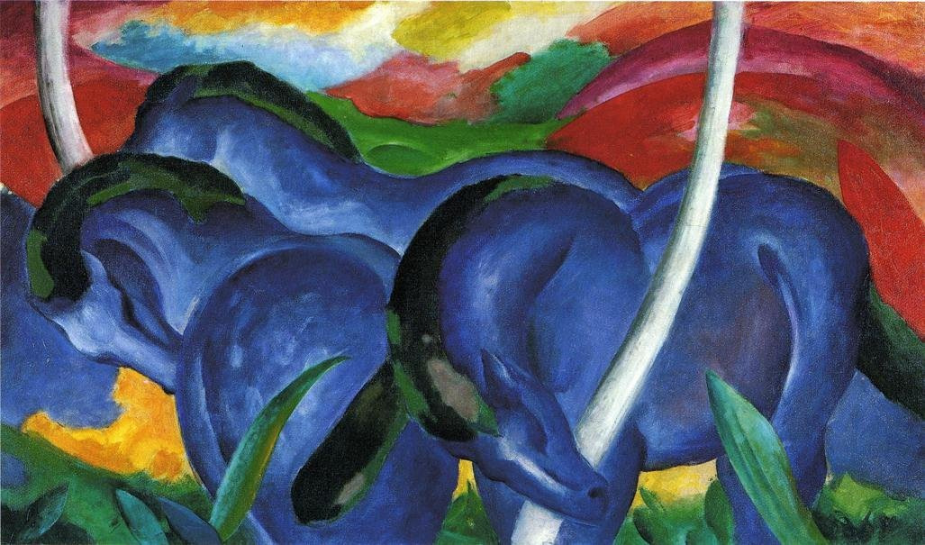 The Large Blue Horses 1911 | Franz Marc | oil painting