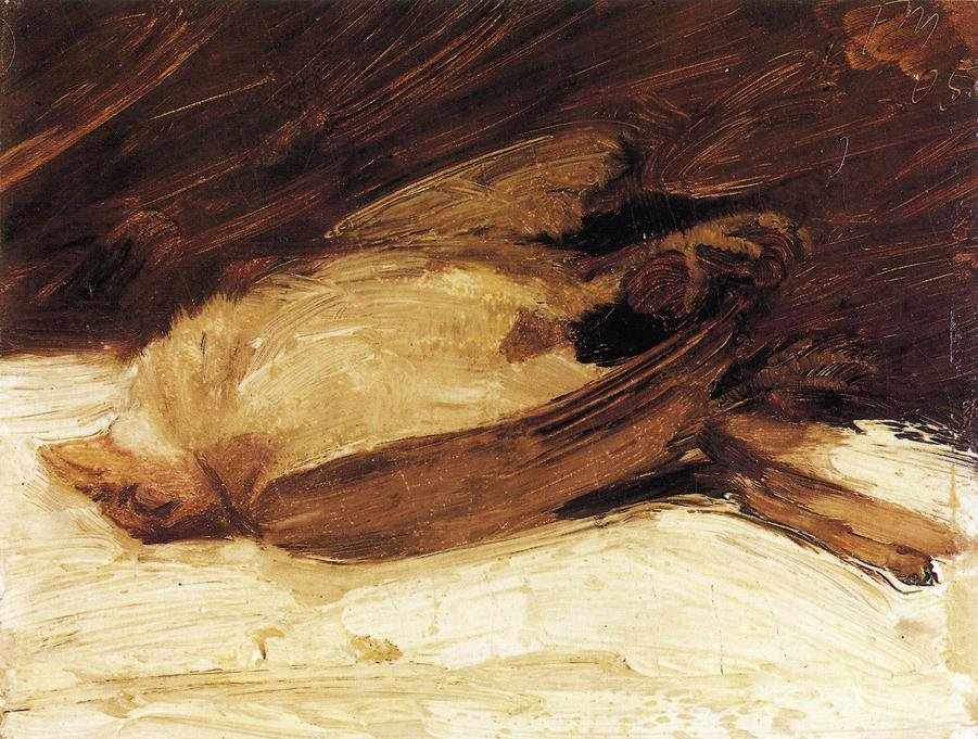 The Dead Sparrow 1905 | Franz Marc | oil painting