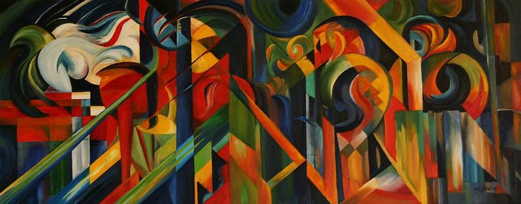 Stables 1913 | Franz Marc | oil painting