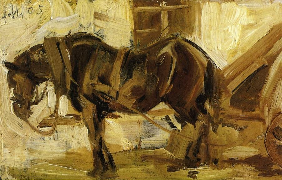 Small Horse Study 1905 | Franz Marc | oil painting