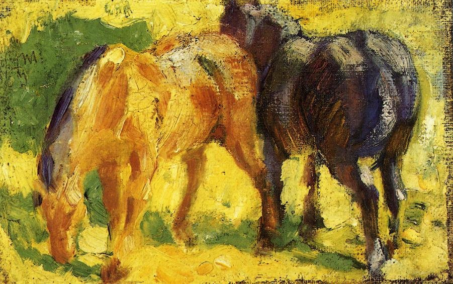 Small Horse Picture 1909 | Franz Marc | oil painting