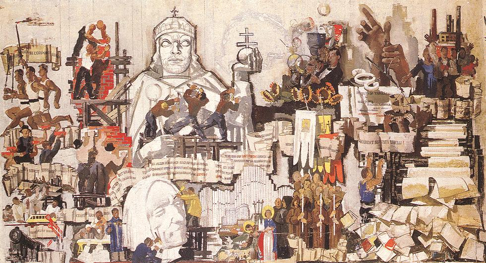 Hungarian-French Alliance (panel design) 1936 | Vilmos Aba Novak | oil painting