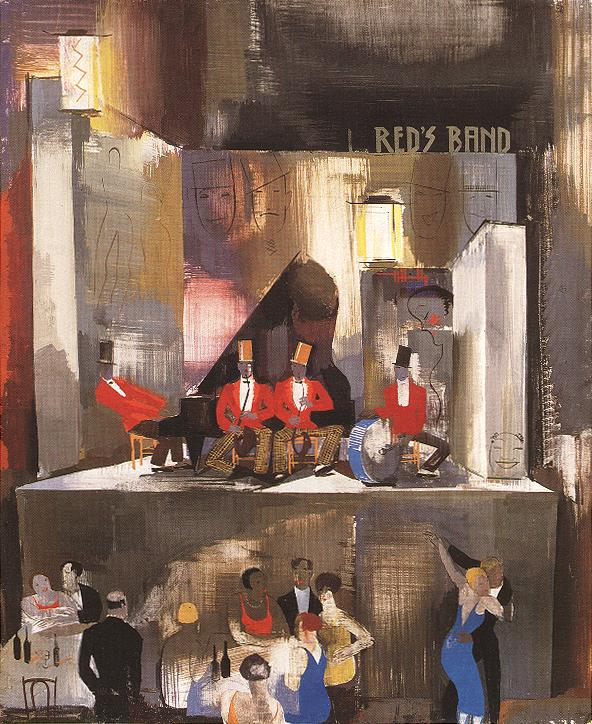 Red's Band c 1930 | Vilmos Aba Novak | oil painting