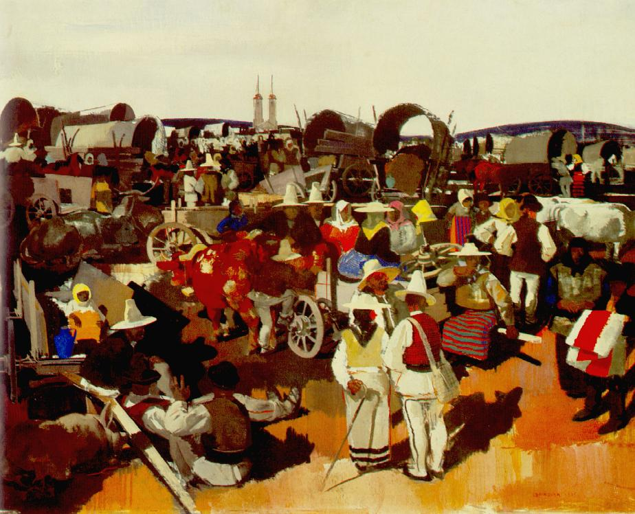 Market at Csikszereda 1935 | Vilmos Aba Novak | oil painting