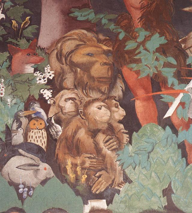 Last Judgment (detail) 1933 4 | Vilmos Aba Novak | oil painting