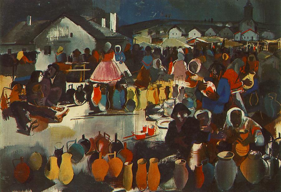 Szekler Market 1939 40 | Vilmos Aba Novak | oil painting