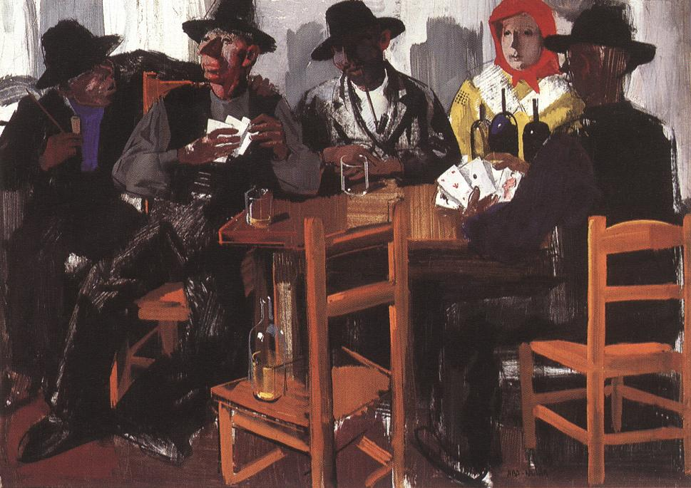 Card Players 1932 | Vilmos Aba Novak | oil painting