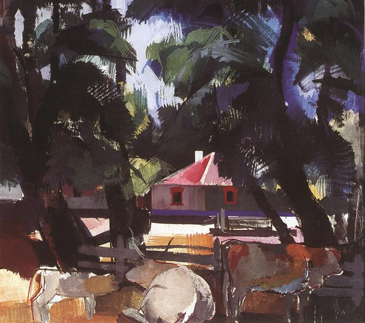 Farmyard 1936   Vilmos Aba Novak   oil painting