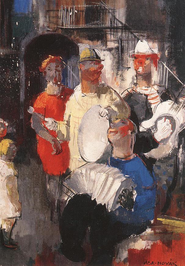 Musicians | Vilmos Aba Novak | oil painting
