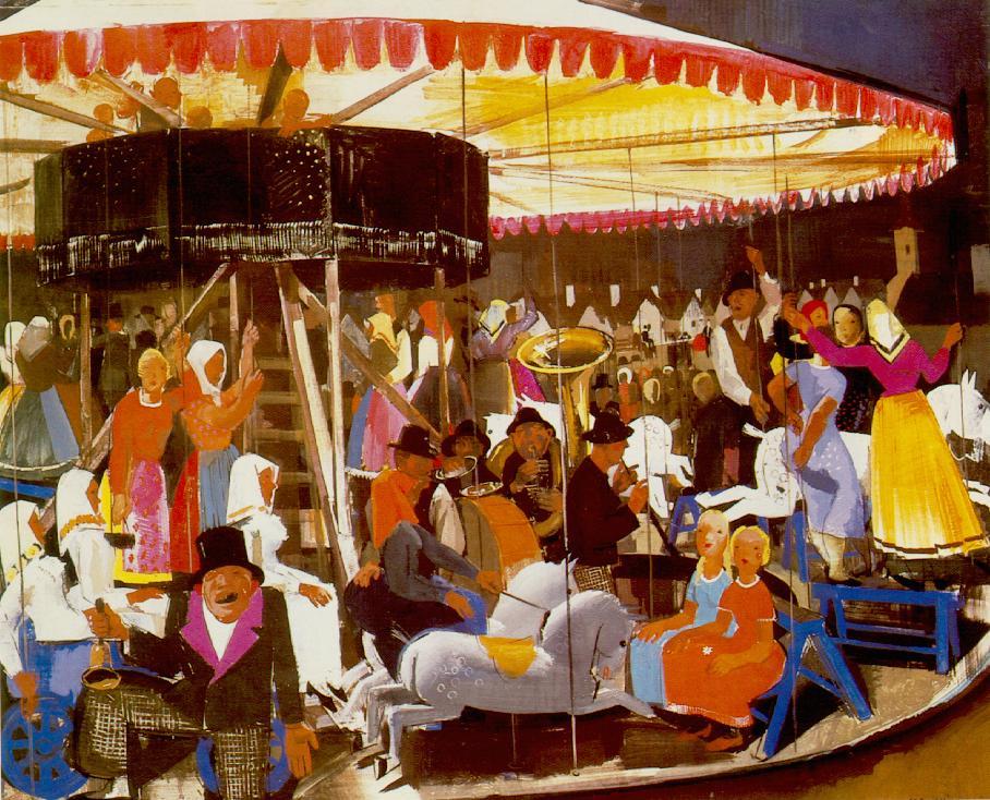 Carousel 1931 | Vilmos Aba Novak | oil painting