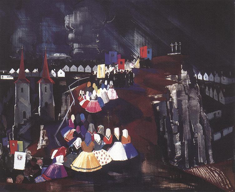 Procession 1930 33 | Vilmos Aba Novak | oil painting