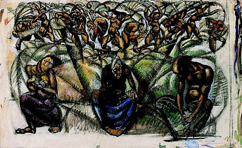 Life c 1919 | Vilmos Aba Novak | oil painting