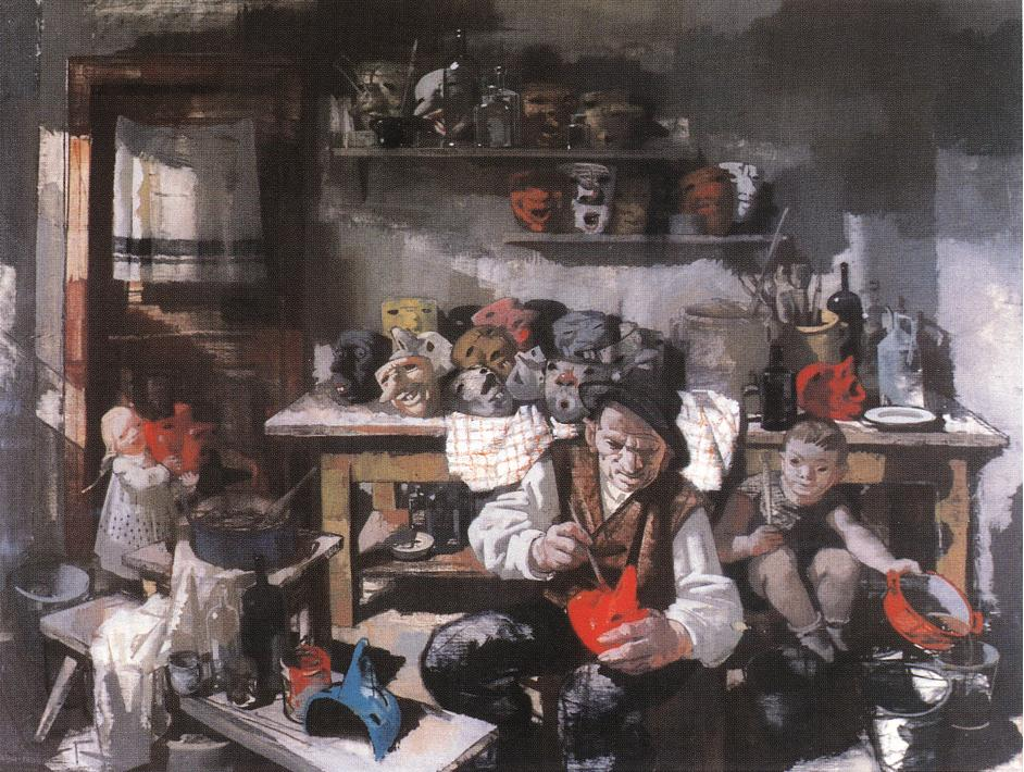 The Mask Maker 1941 | Vilmos Aba Novak | oil painting