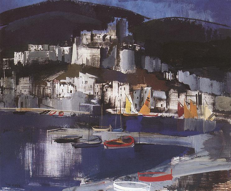 Italian Coastal Village c 1930 | Vilmos Aba Novak | oil painting