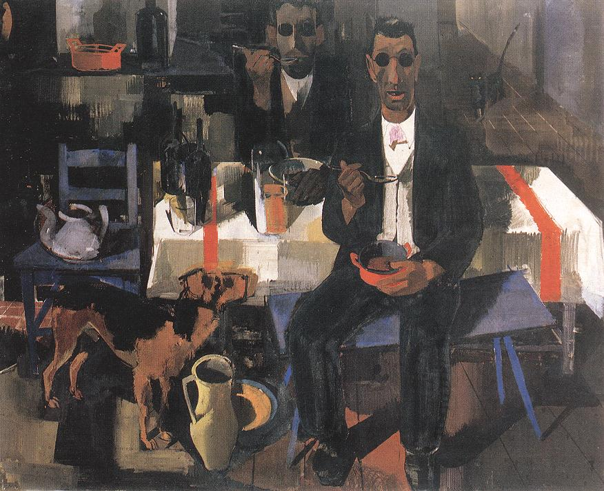 Blind Musicians 1932 | Vilmos Aba Novak | oil painting
