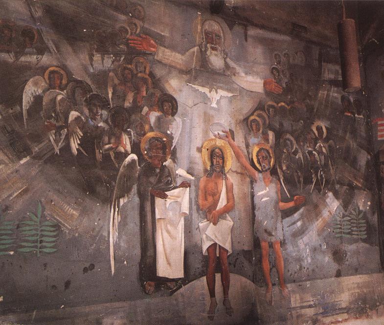 Baptism of Christ 1931 | Vilmos Aba Novak | oil painting