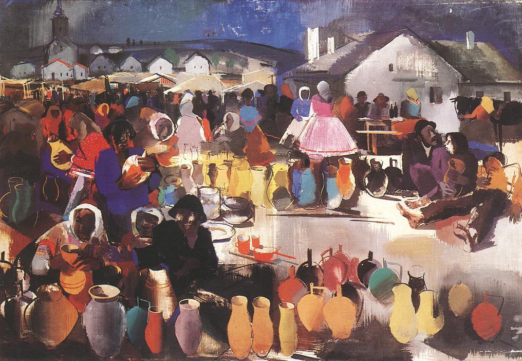 Market of Ceramics | Vilmos Aba Novak | oil painting