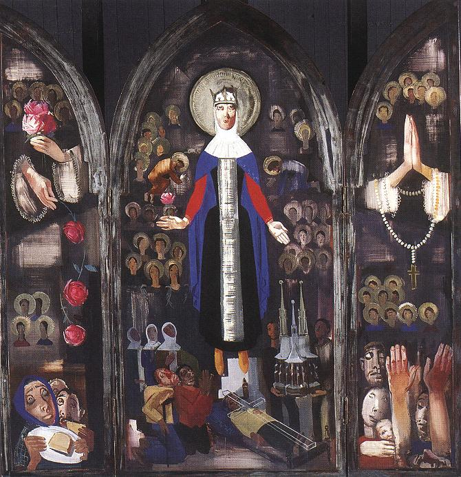 Saint Elisabeth of Hungary 1931 | Vilmos Aba Novak | oil painting