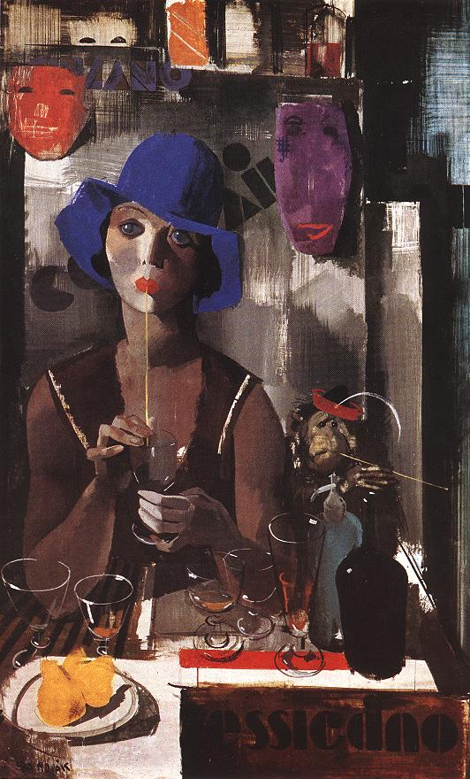Woman with Blue Hat c 1930 | Vilmos Aba Novak | oil painting