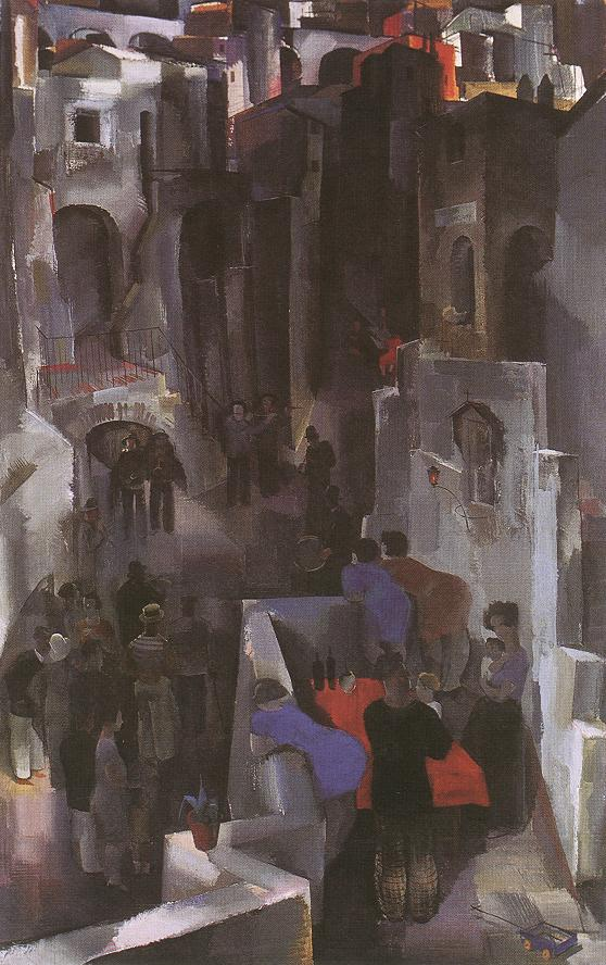 Concert in the Square 1929 | Vilmos Aba Novak | oil painting