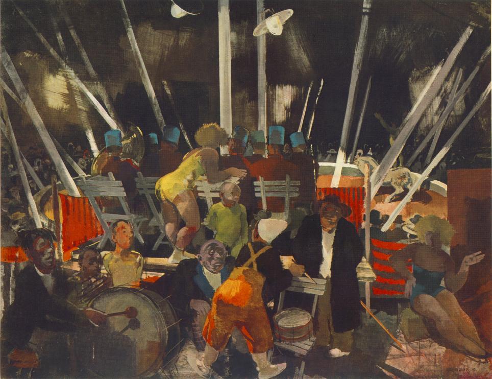 Circus 1935 | Vilmos Aba Novak | oil painting
