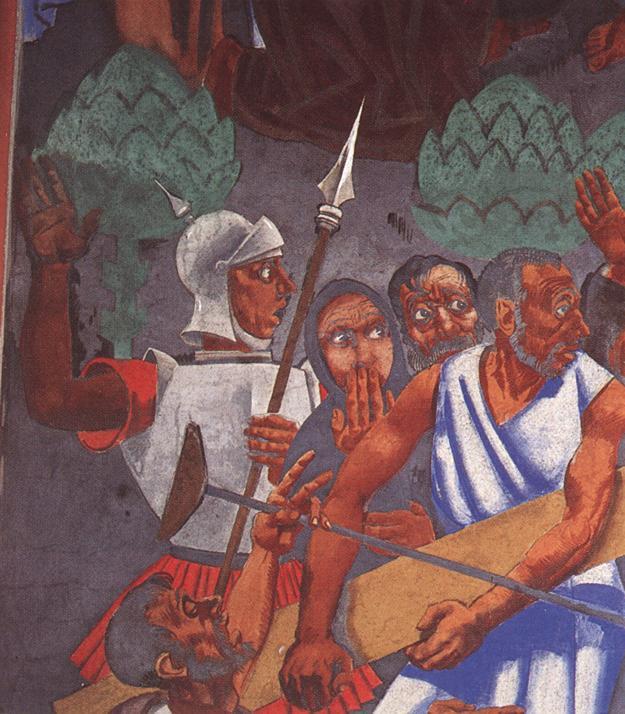 Last Judgment (detail) 1933 2 | Vilmos Aba Novak | oil painting