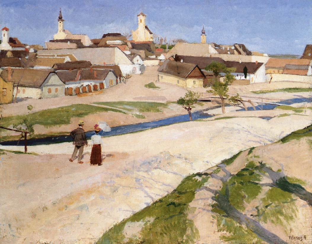 Landscape at Szentendre 1907-08 | Adolf Fenyes | oil painting