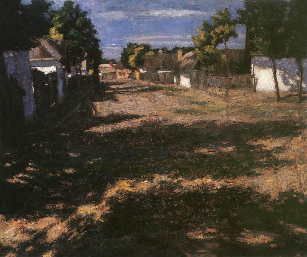 Silent Street 1899 | Adolf Fenyes | oil painting