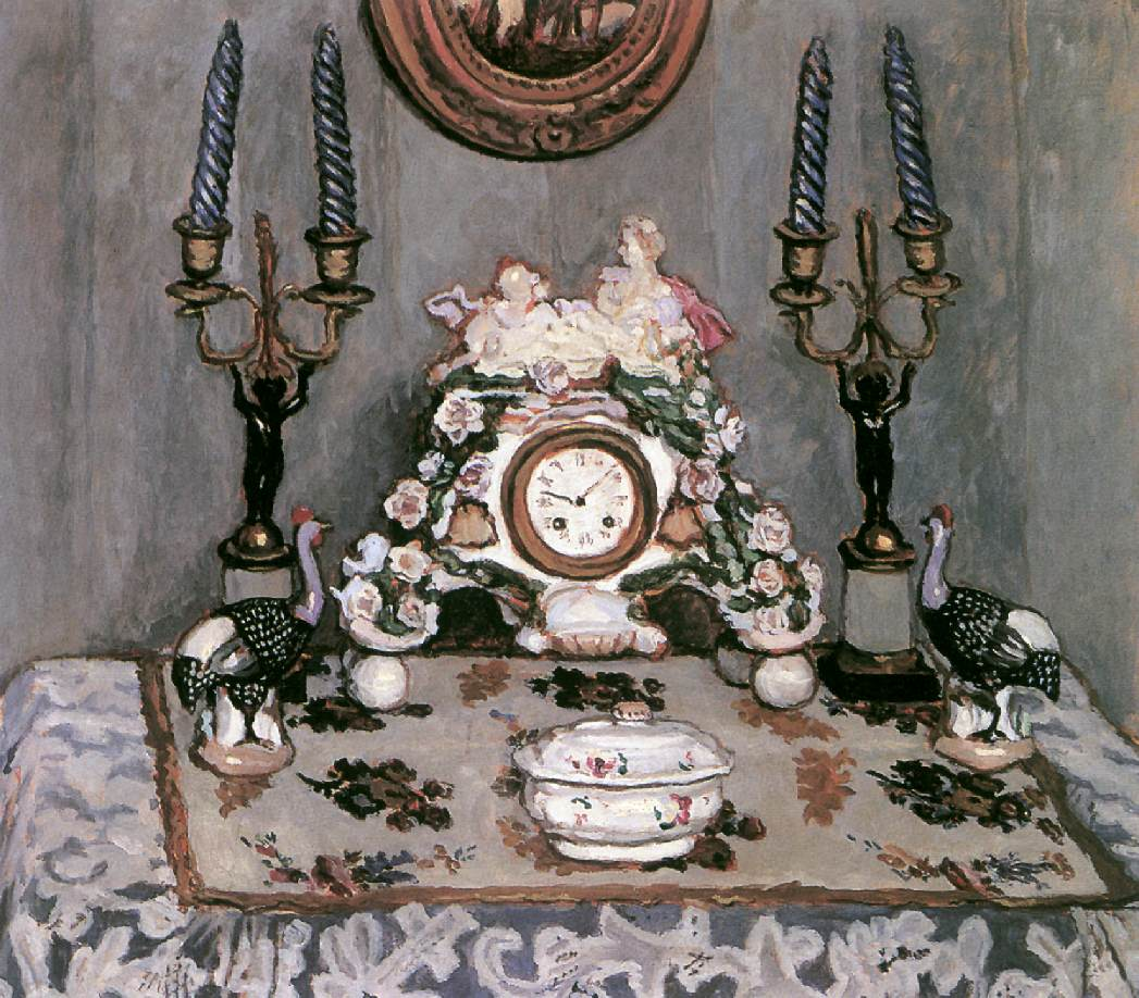 Still-life with China Clock 1910   Adolf Fenyes   oil painting