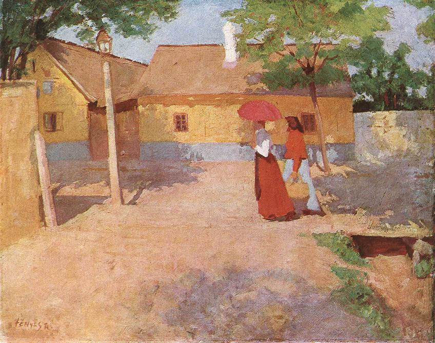 Forenoon in a Provincial Town 1904 | Adolf Fenyes | oil painting