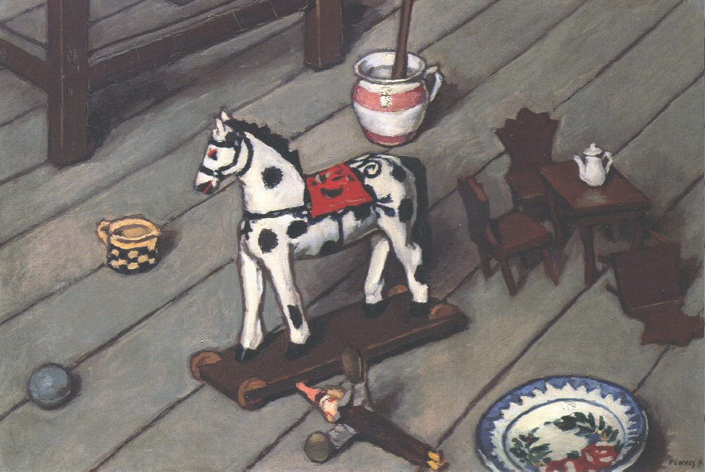 Children's Game 1910   Adolf Fenyes   oil painting