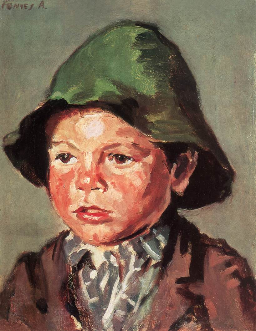 Portrait of a Boy after 1900 | Adolf Fenyes | oil painting