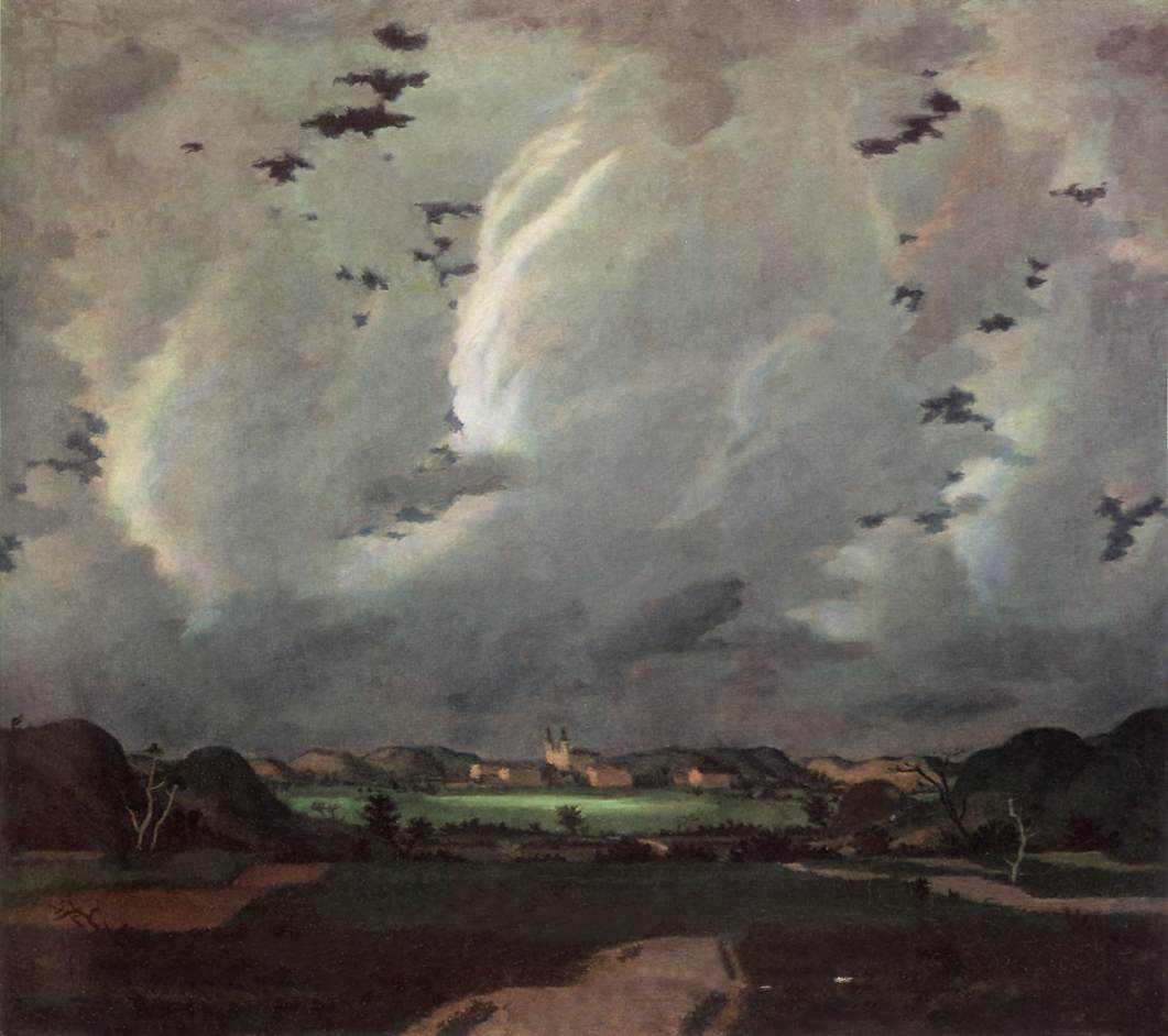 The Sun Hiding 1925 | Adolf Fenyes | oil painting