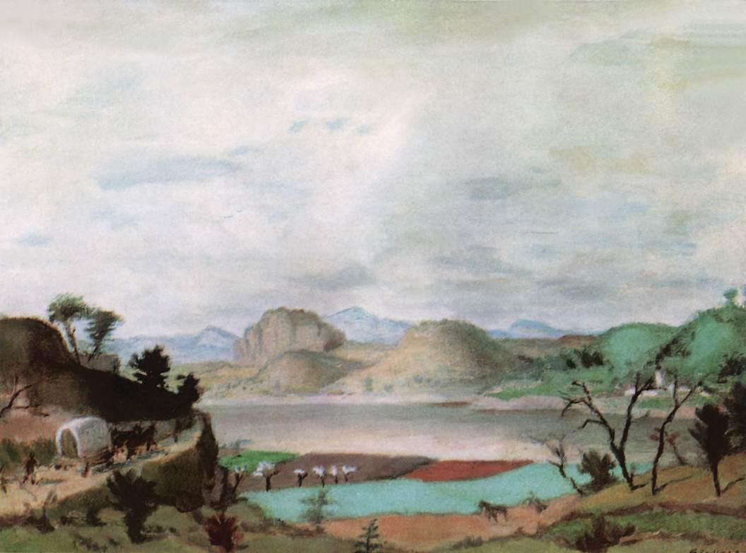 Spring Landscape in the Uplands 1937   Adolf Fenyes   oil painting