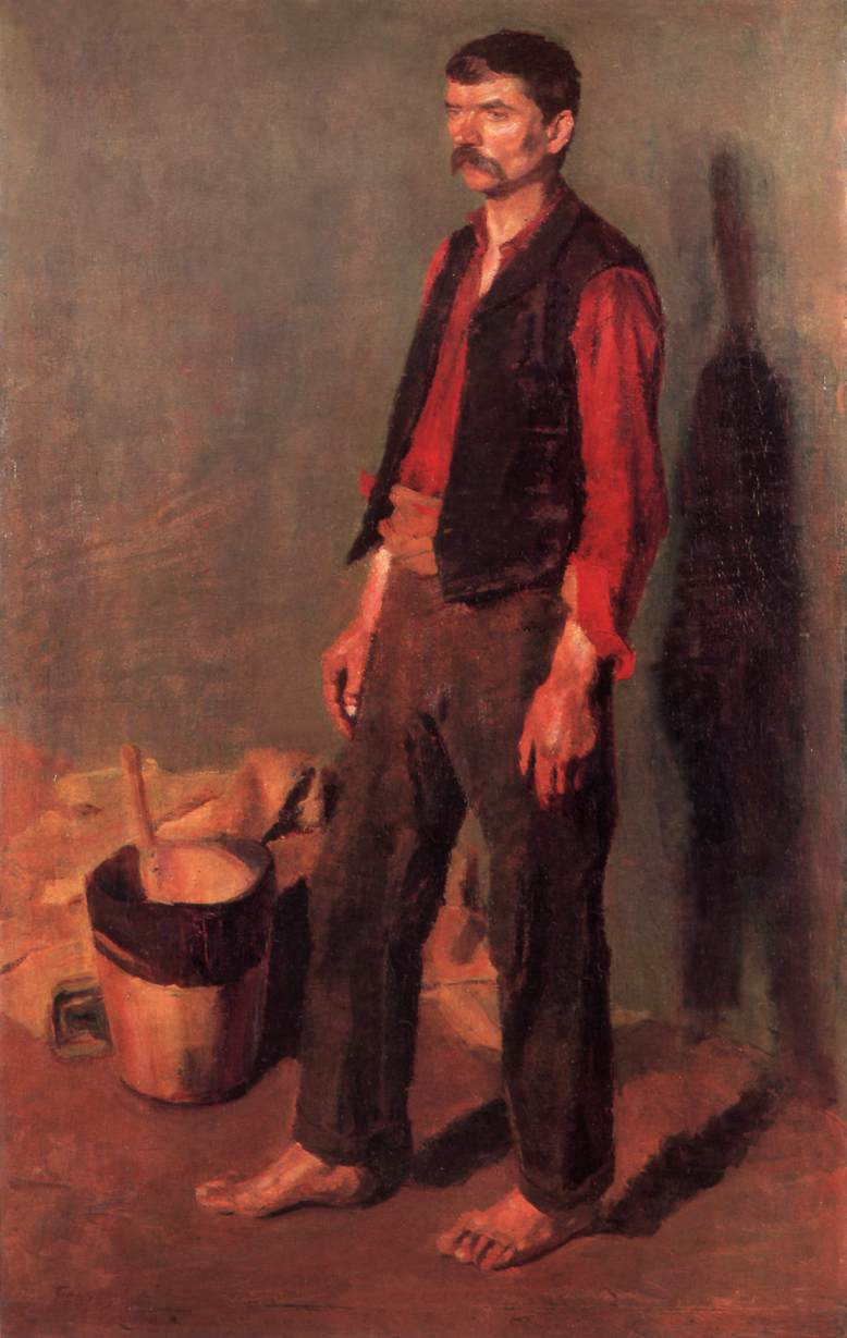 Day Labourer   Adolf Fenyes   oil painting