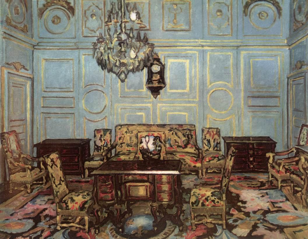 The Salon of Madame de Maintenon 1911 | Adolf Fenyes | oil painting