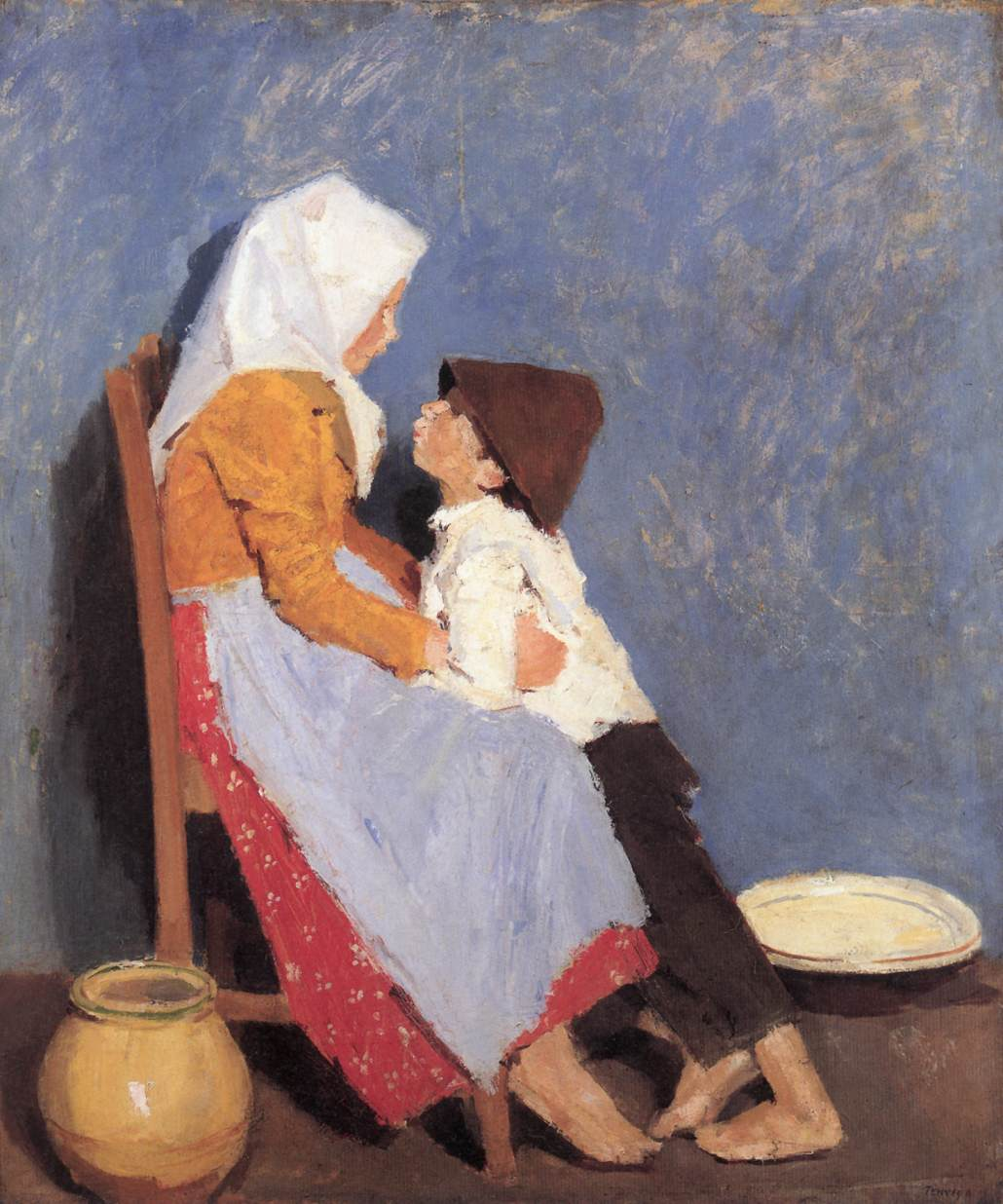 Brother and Sister 1906   Adolf Fenyes   oil painting